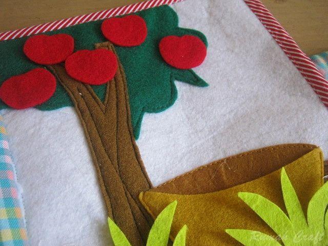 quietbook, apple tree