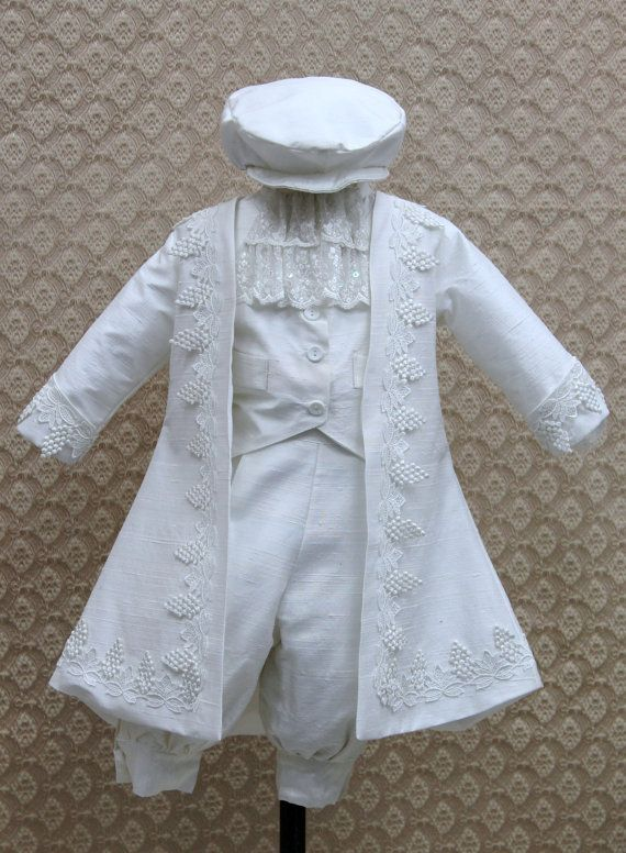 Boys Silk Dupioni Heirloom Christening Outfit by  Elenacollectionusa on etsy.