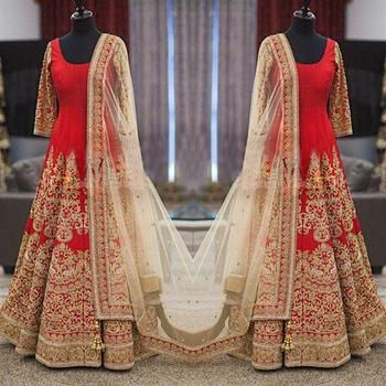So pretty -https://www.cooliyo.com/product/93211/red-silk-embroidered-semi-stitiched-salwar-with-dupatta/