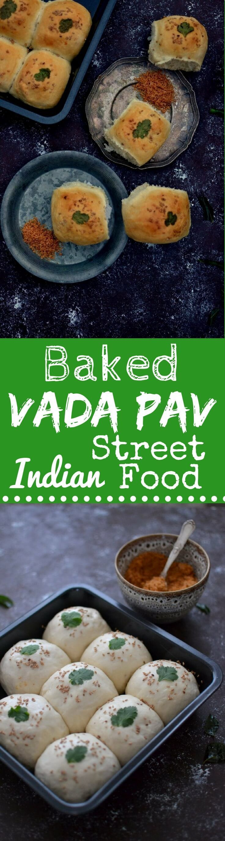 Baked Vada Pav, a Scrumptious Indian Street Food of Soft Buns baked with a Spicy Potato Filling, will transport you to the streets of Mumbai!