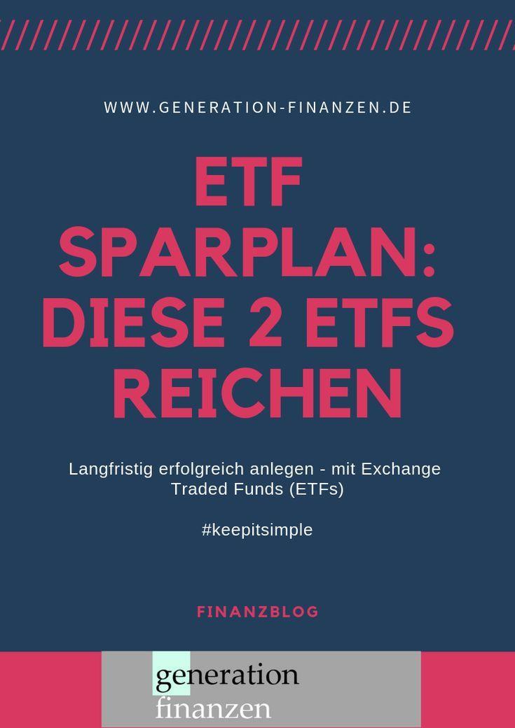 Halte es einfach: Diese beiden #ETFs reichen für Deinen #Sparplan für #Geldanl