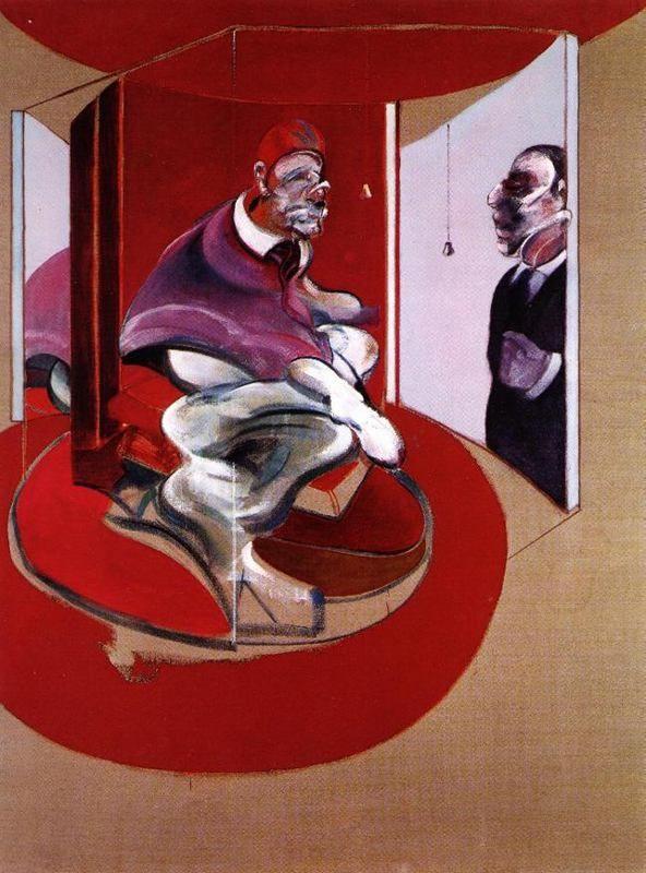 francis bacon artiste   Étude de Red Pape (Francis Bacon)