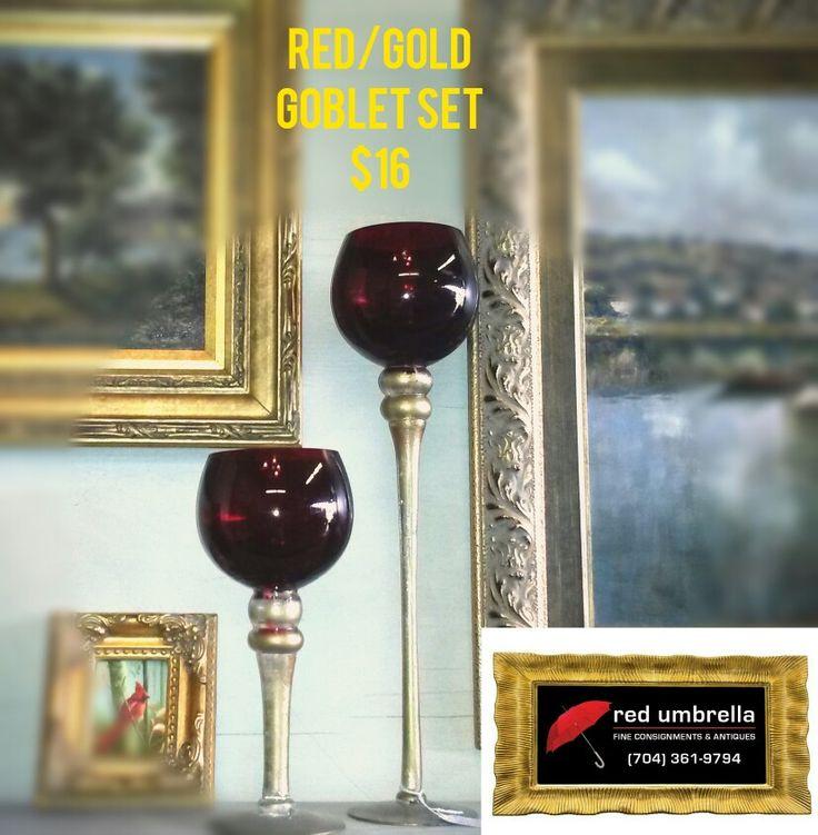 Red Goblets $16 set