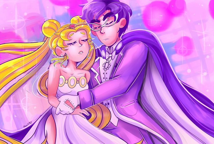 Sailor Moon x Tuxedo Mask by zamiiz