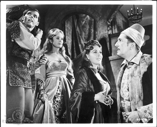 Still of Jack Nicholson, Vincent Price, Hazel Court and Olive Sturgess in The Raven