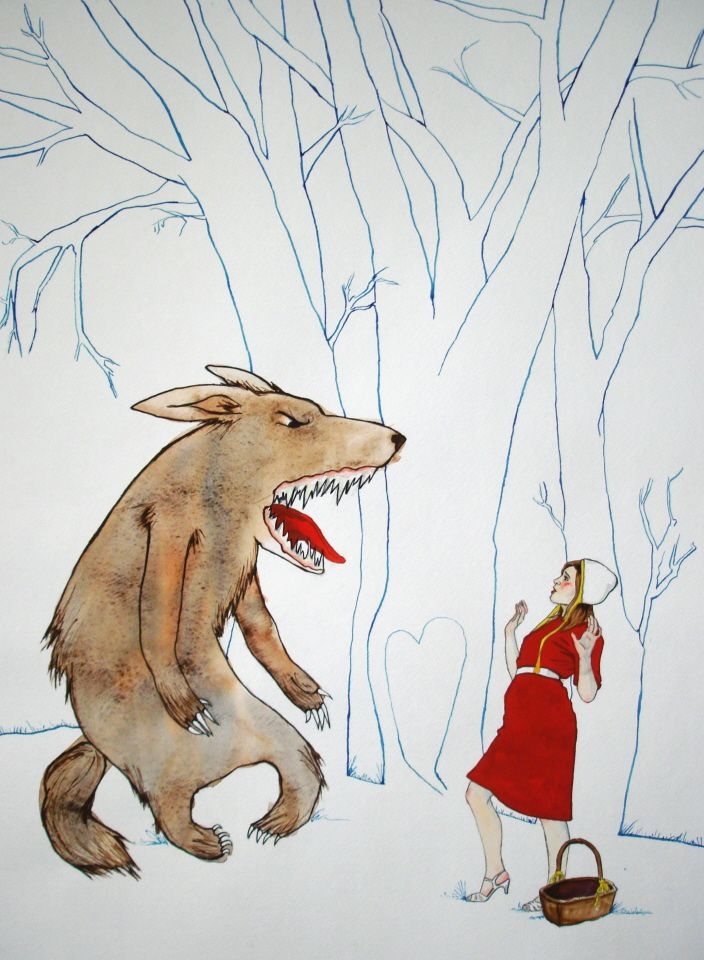 compare and contrast little red riding