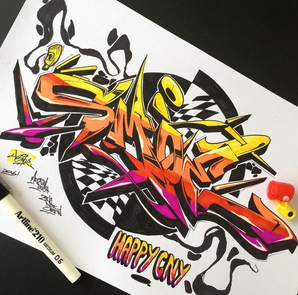 Graffiti Letter : Amazing Sketch 3D Wildstyle Graffiti Alphabet Letter A To Z With Full Color Graffiti On BlackBook Graffiti Design Amazing Sketch Graffiti Letter by asmoeroc