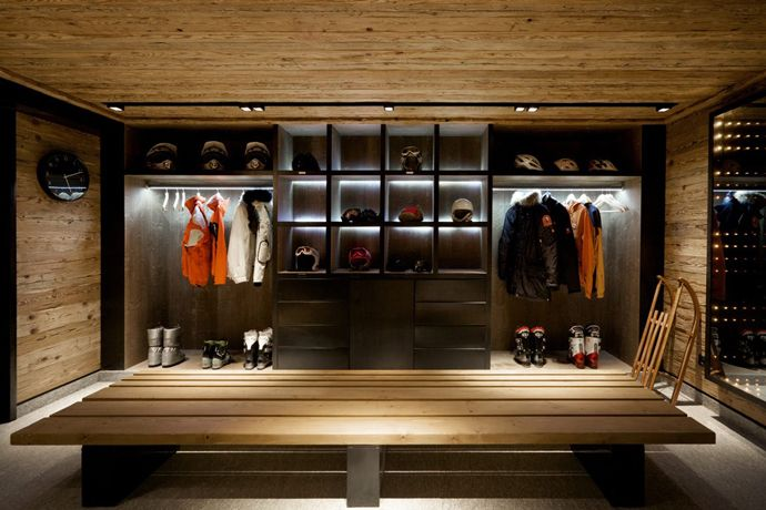 Would love some cubby's like this in the back of the garage for our ski stuff.  A bit too dark