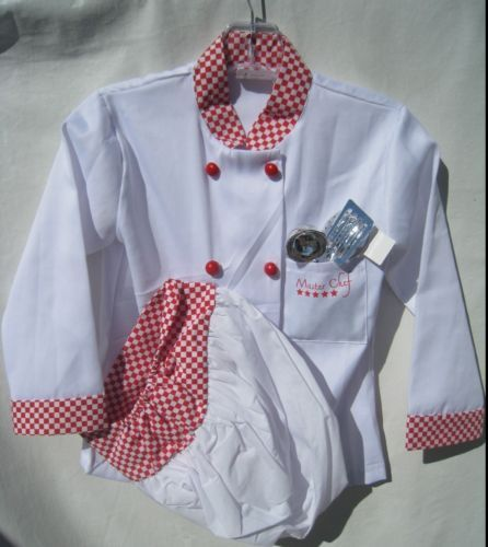 Master Chef Costume Kids Boys Girls Small Miracles Halloween Pretend Dress Up