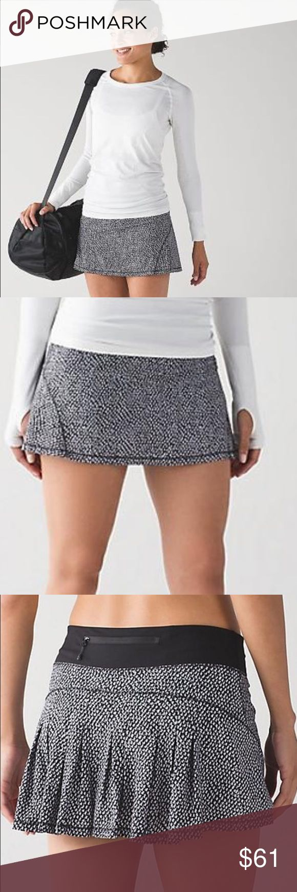 Lululemon Circuit Breaker Skirt *R Lululemon Circuit Breaker Skirt *R    Hit the trails or the court in this versatile slim-fitting skirt. Designed to feel light and keep you covered, Swift Ultra fabric is sweat wicking. Extra grip at the hem, added Lycra(TM) fiber ensures great shape. lululemon athletica Skirts Mini