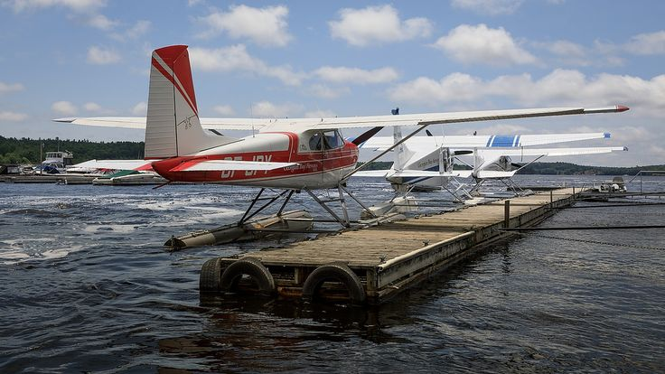 Water Wheels or Wings by Bert CR Via Flickr: Well, if you're in Parry Sound and need a taxi, you have some choices - water, wheels, or wings.