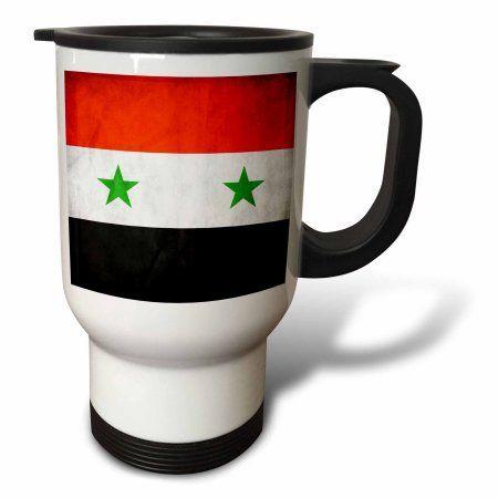 3dRose Syria Flag, Travel Mug, 14oz, Stainless Steel