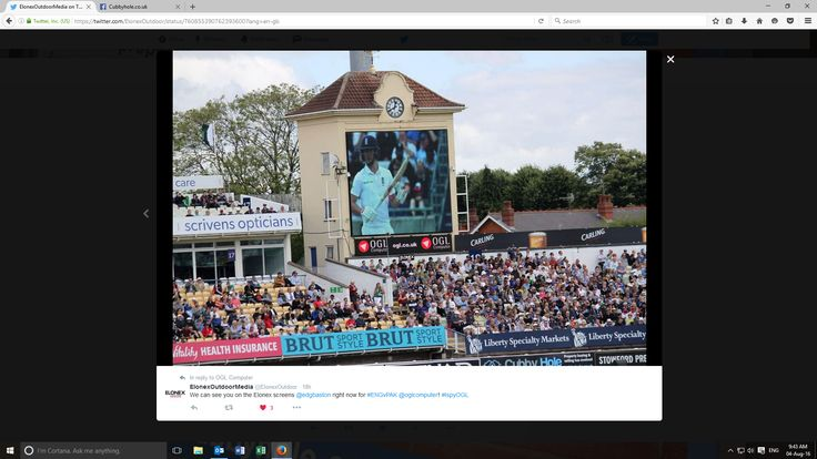 Our advert at the Cricket
