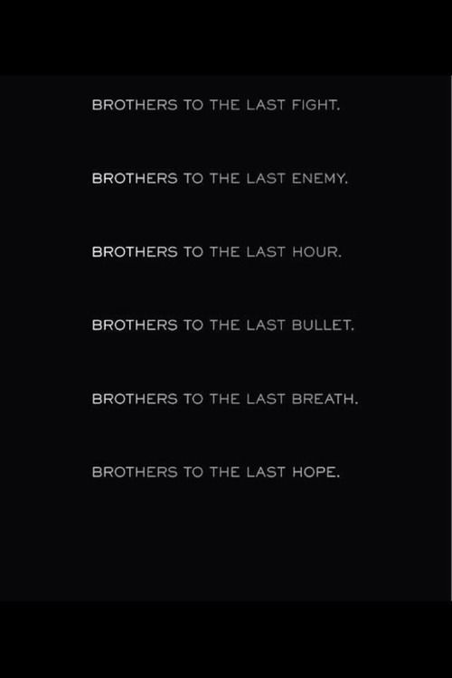 Brothers. Always together. Always helping. Till there's nothing left you can do.