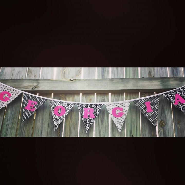 Personalised bunting for a teens bedroom gezam.creations@gmail.com