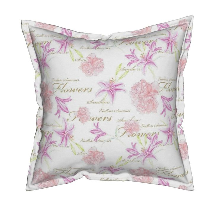 Serama Throw Pillow featuring Lilly_Endless_Summer_rose_small_150dpi by funkenflug | Roostery Home Decor