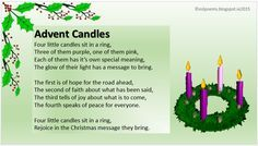 advent candles meaning hope love joy peace - Google Search