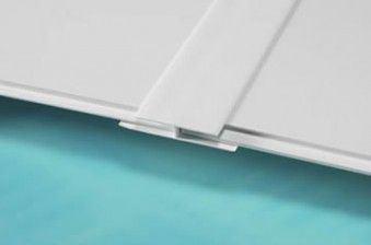 £5.50  3mm 2440mm Hygenic PVC Cladding H Trim (Division Bar)