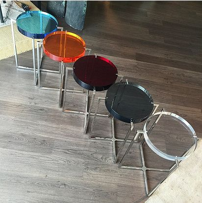 Good Lucite End Tables In A Variety Of Colors!