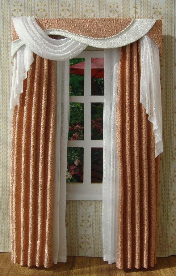 Miniature 1:12 Dollhouse Curtains (on Order)