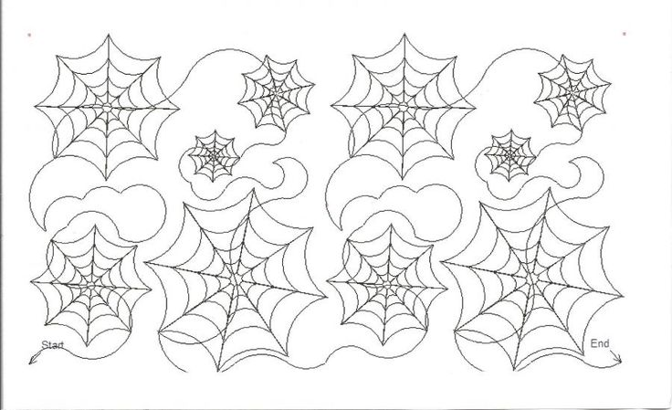 Pantograph: Spiderweb for Halloween (or maybe a Spider-Man quilt)