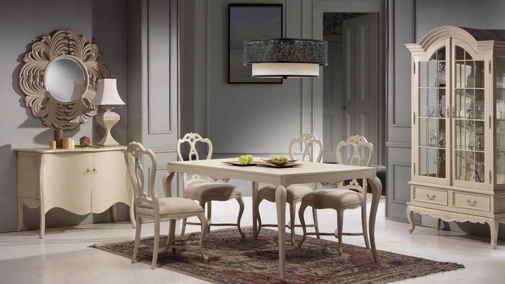 Mesa comedor y sillas vintage estambul en mbar muebles - Muebles comedor vintage ...