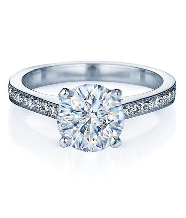 14Kt  Certified  1.30  Cts (Center Diamond 1.00 Cts) Real  Natural Diamond White Gold Ring, http://www.snapdeal.com/product/14kt-hallmarked-certified-130-cts/1000696080