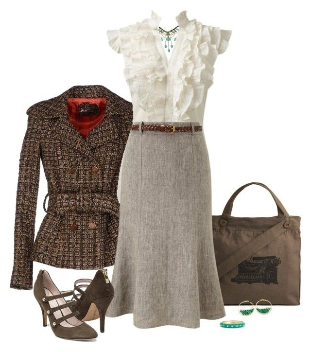 """""""Lovely Librarian"""" by exaybachay ❤ liked on Polyvore featuring Sinéquanone, Humble Chic, Effie's Heart, Arden B., CC, Vince Camuto, MINU Jewels, Sequin, WorkWear and Fall"""