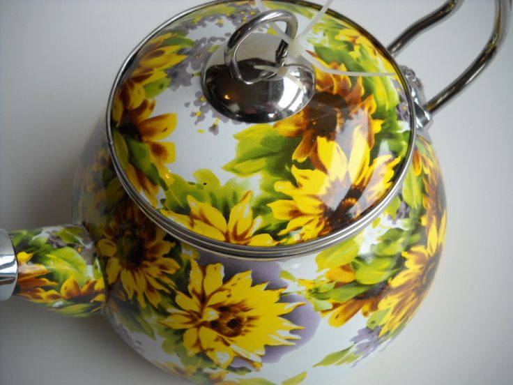 Rataly Sunflower Tea Kettle New More Sunflowers