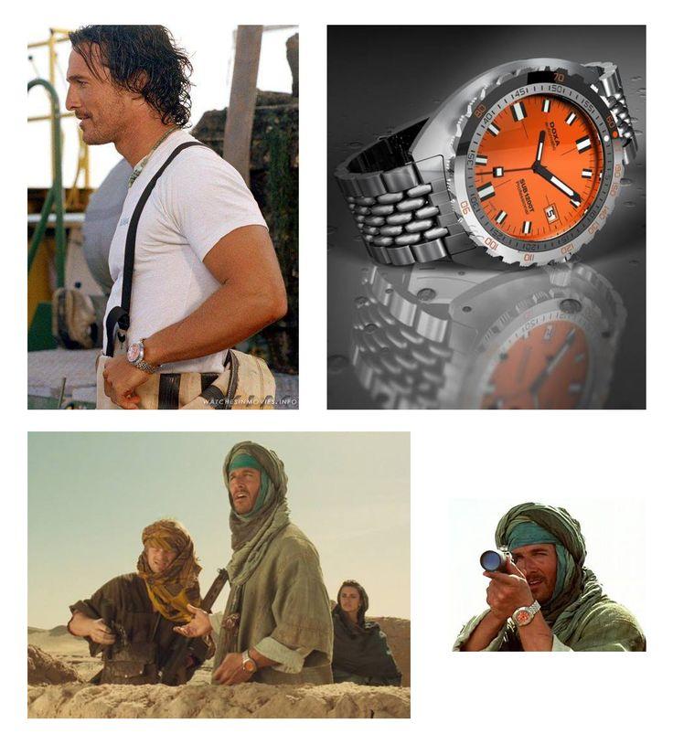 Niewiele osób wie, ale w filmie Sahara Matthew McConaughey nosi zegarek DOXA SUB. To profesjonalny zegarek do nurkowania, wodoszczelny na 1200M. Zegarek można kupić w naszym sklepie: