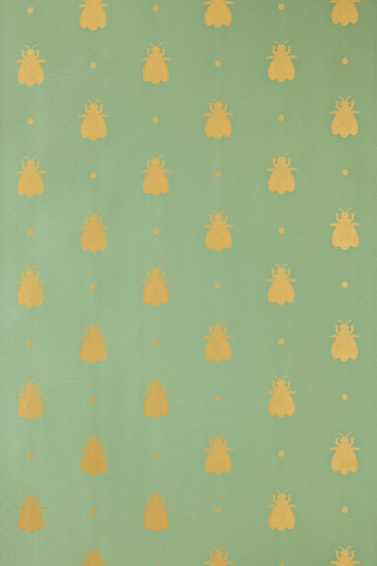 bumble bee wallpaper! Farrow and Ball. I would die to have