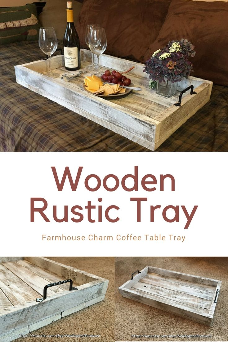 Rustic Ottoman Tray Wooden Ottoman Tray Wooden Rustic Tray Coffee