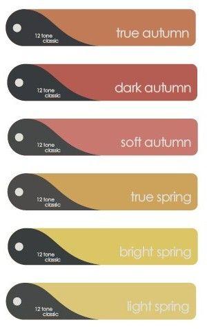 12 Tone Classic Palette Fans - Autumns & Springs: