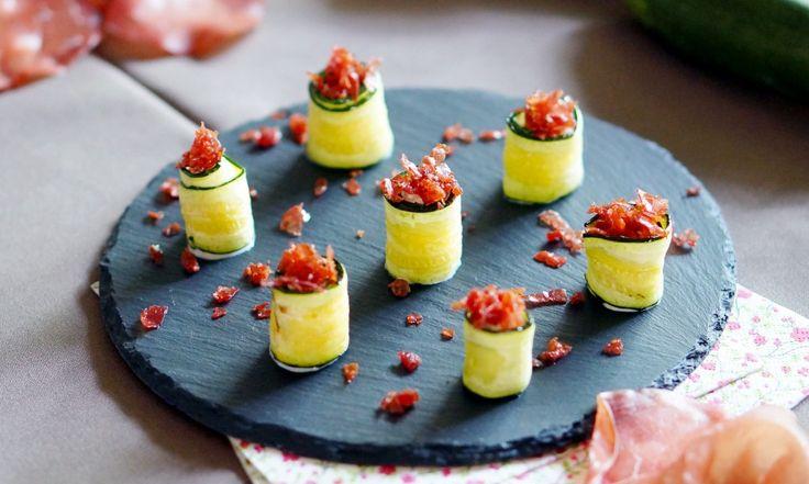 Recette : Roulés de courgettes grillées à la ricotta par Pretty Chef.fr