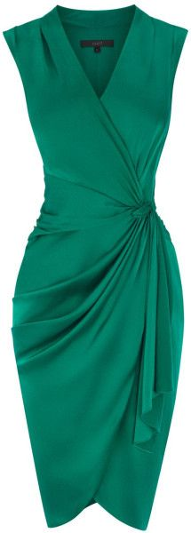 Coast Lavinia Dress in Green (emerald green) - Lyst This color is pretty, but I prefer blue or black