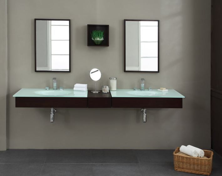 Modern Double Sink Bathroom Vanity Ideas: Best 25+ Floating Bathroom Vanities Ideas On Pinterest
