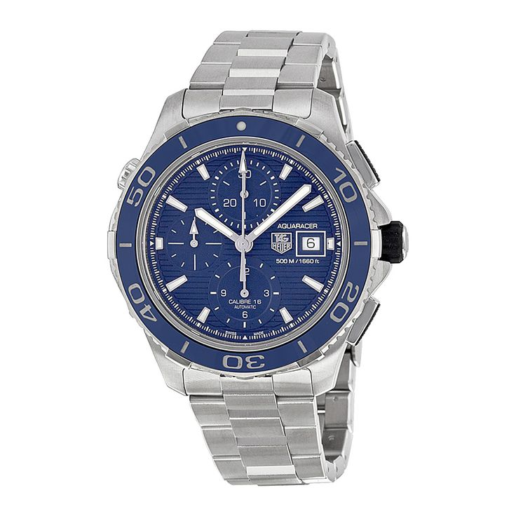 Tag Heuer Aquaracer Chronograph Blue Dial Stainless Steel Mens Watch CAK2112BA08