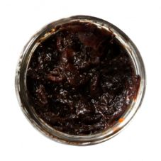 Red onion confiture with balsamico, red wine and dried plums.