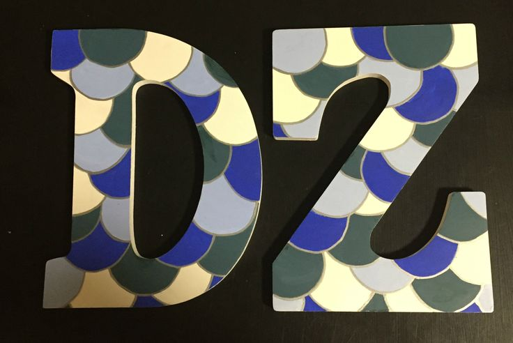Delta Zeta / Sorority letters / mermaid scales / DZ Crafts / painted letters ideas