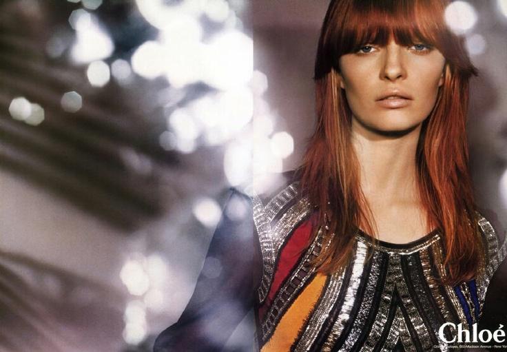 Campaign: Chloé Season: Fall 2002 Photographer: Horst Diekgerdes Model(s): Ksenia Maximova