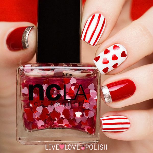 Lindas uñas de moda | Diseños San Valentin                              …