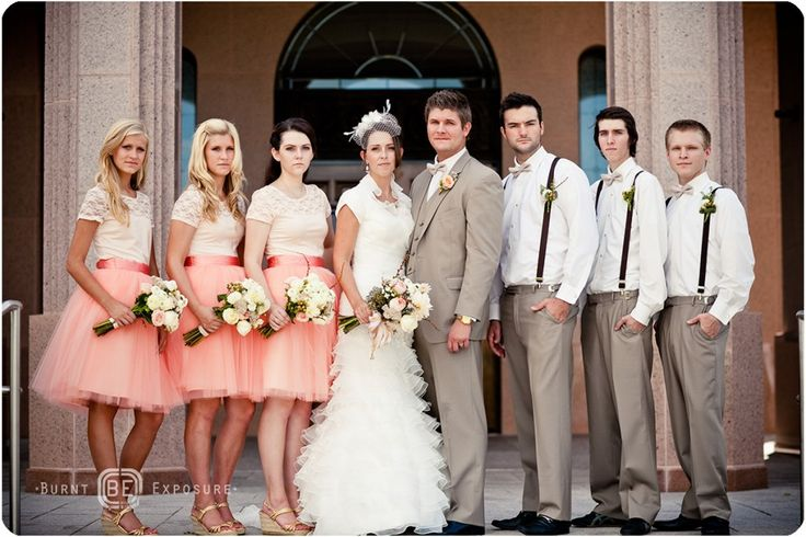 Wedding colors for Pink, Peach and Cream - Photo Courtesy of Burnt ...