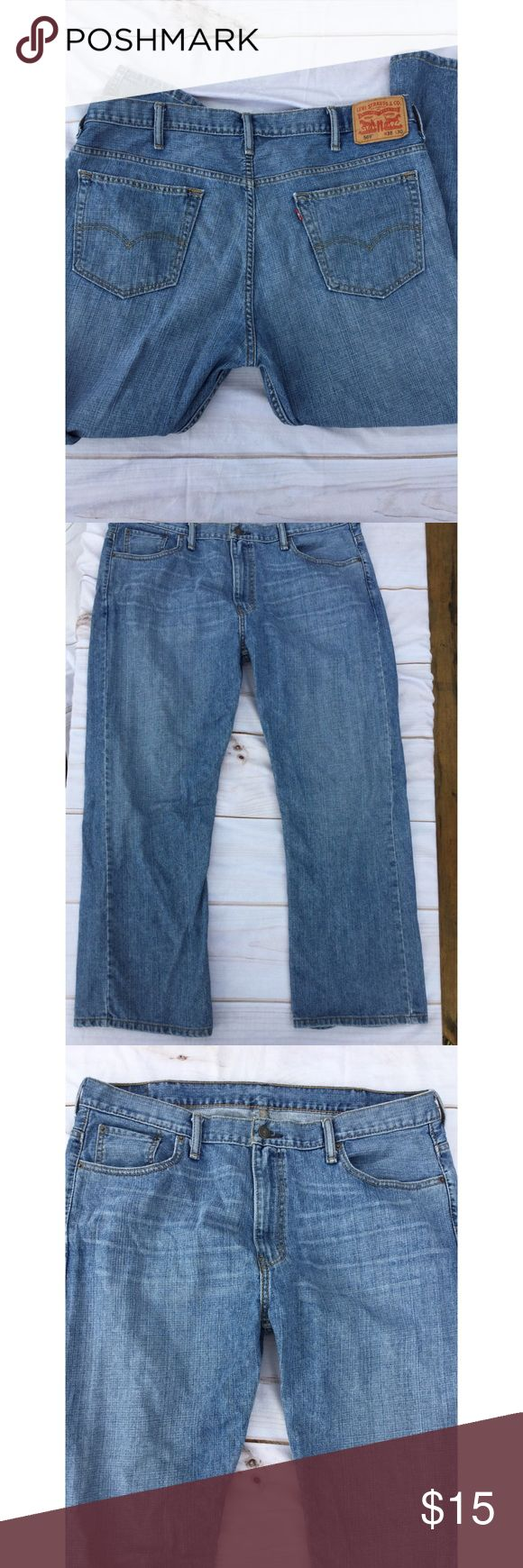 Levi 569 Straight Jeans 38 x 30 Levi 569 Jeans 38 x 30.  Zip Fly.   Nice overall condition and smoke free home. Thanks! Levi's Jeans Straight