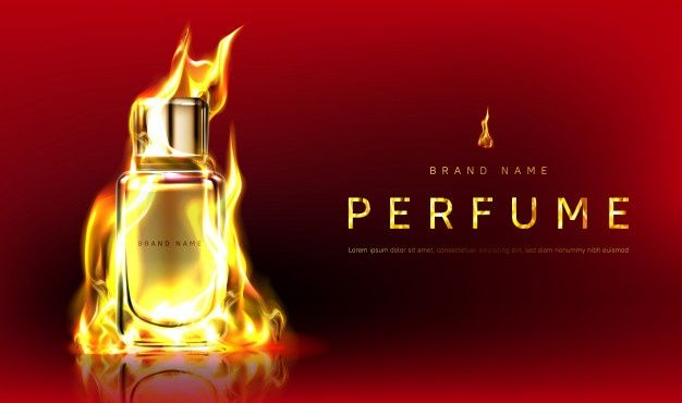Download Promo With Perfume Bottle In Fire Flame For Free Perfume Perfume Bottles Banner Template Design