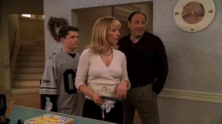 The Sopranos: Season 3, Episode 9 The Telltale Moozadell (22 Apr. 2001) Robert Iler Robert Iler , A.J. Soprano , Edie Falco , Carmela Soprano ,  James Gandolfini , Tony Soprano,
