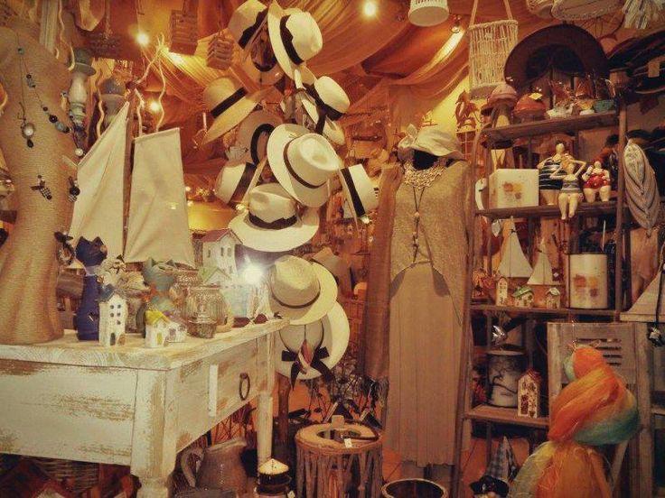 Handmade gifts and beautiful hats at Ammos lefkada