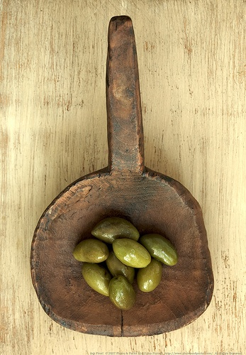 Green Olives by Lara Ferroni, via Flickr. Rustic, one of the style words he used for me.