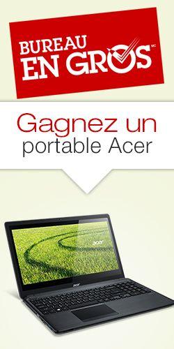 Gagnez un des 3 portables Acer. Fin le 30 juin.  http://rienquedugratuit.ca/concours/gagnez-un-des-3-portables-acer/