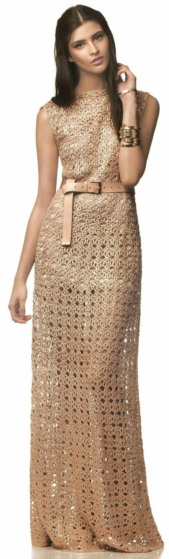 47 besten vestidos crochet Bilder auf Pinterest | Häkelkleider ...