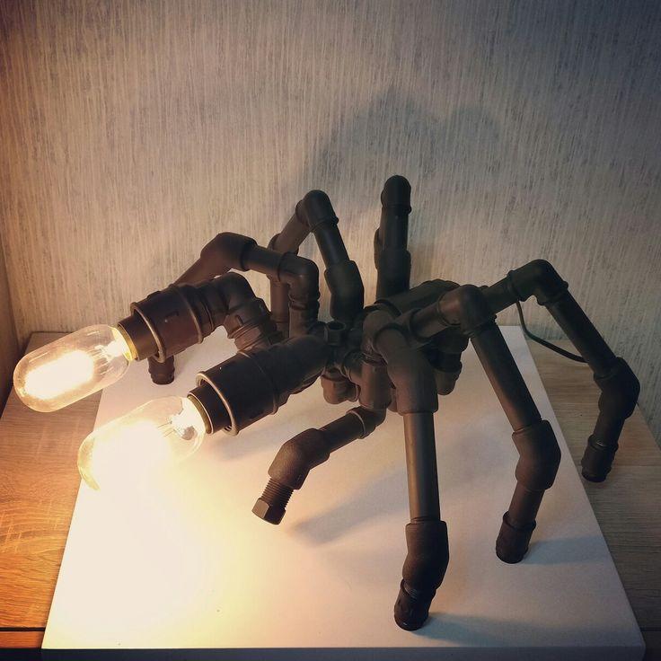 """Светильник из труб: """"Царь арахнидов"""" освещение лампа ..."""